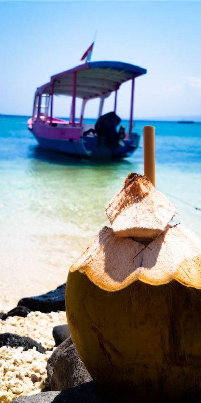 Coconut boats Lombok